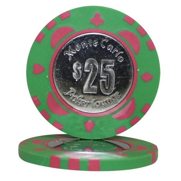 Monte Carlo Coin Inlay $25 Roll of 25