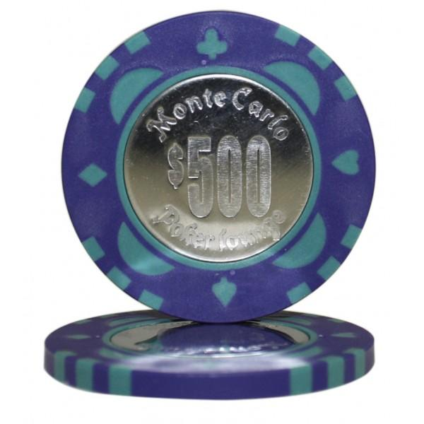Monte Carlo Coin Inlay $500 Roll of 25