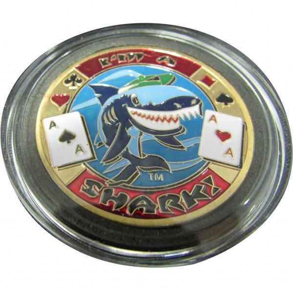 NEW I/'m A Shark Poker Card Guard *GOLD*
