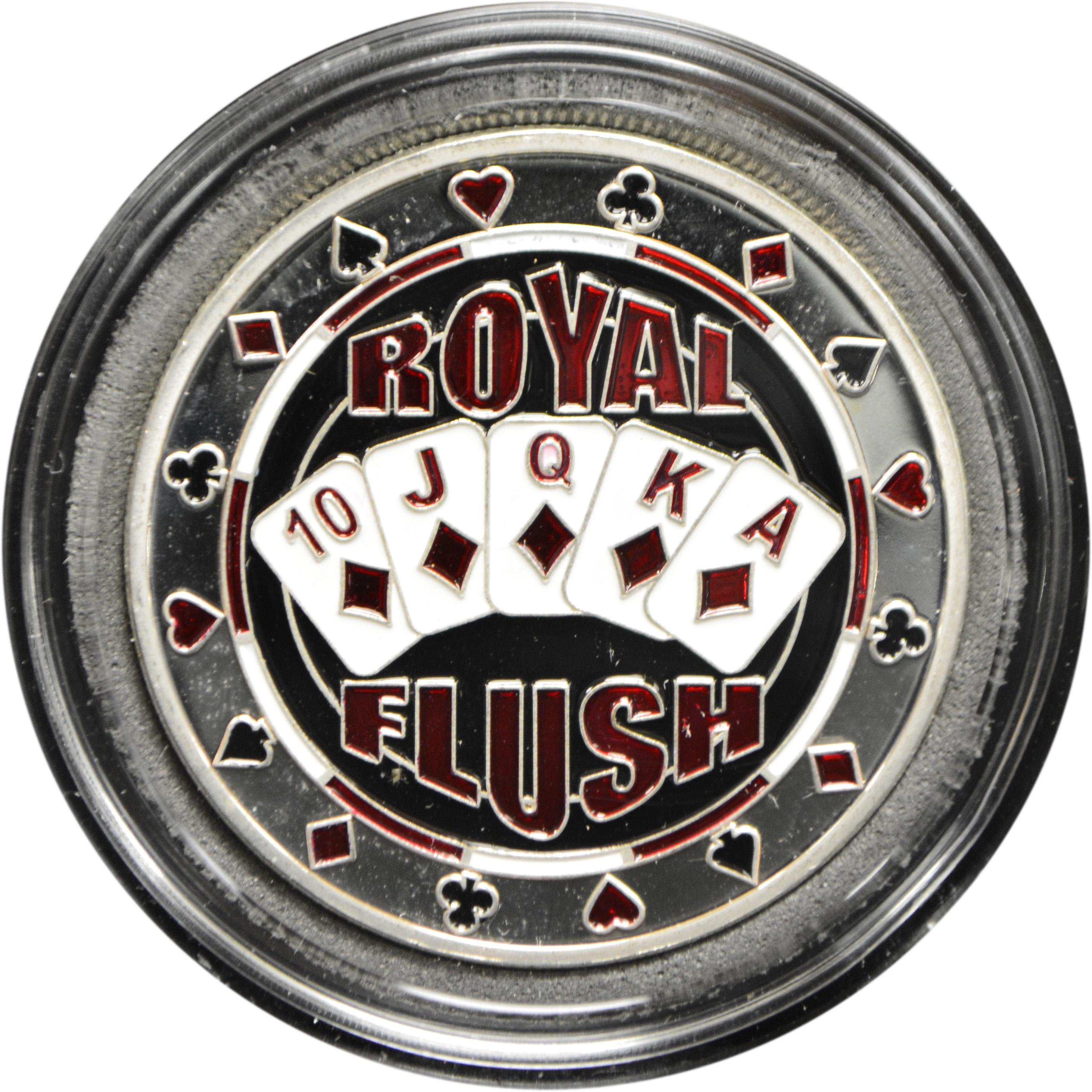 ROYAL FLUSH silver color Poker Card Guard Protector