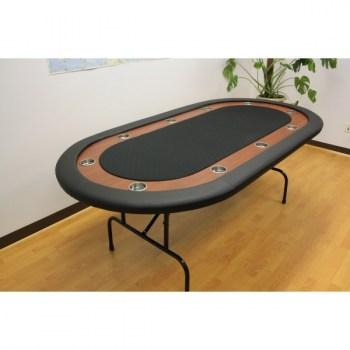 10 Player Folding Legs Poker Table__black-22