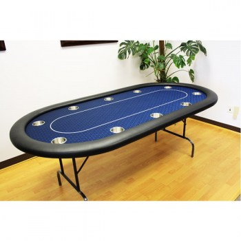 10 Players 84 Poker Tables - Blue