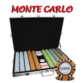 1000PCS 14G MONTE CARLO POKER CLUB POKER CHIPS SET With ALUM CASE