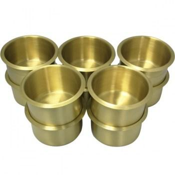 10PCS BRASS POKER TABLE CUP HOLDER JUMBO SIZE
