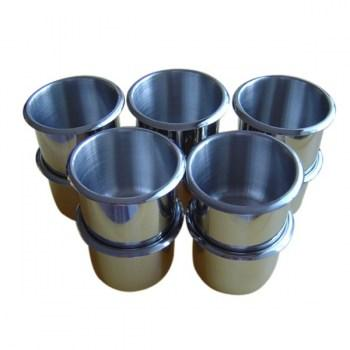 10PCS STAINLESS STEEL POKER TABLE CUP HOLDER REGULAR SIZE_1