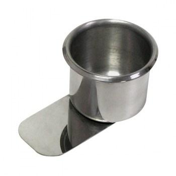 10PCS STAINLESS STEEL POKER TABLE SLIDE UNDER CUP HOLDER REGULAR SIZE_1