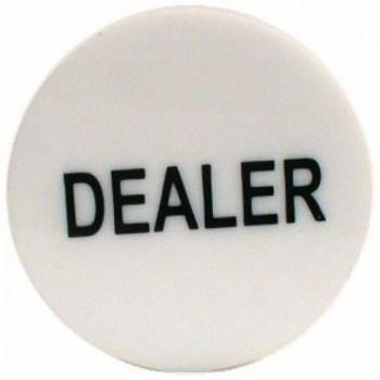2 Inch Dealer Puck Engraved Casino Quality--white-2