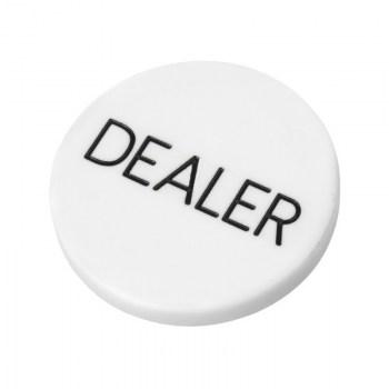 2 Inch Dealer Puck Engraved Casino Quality--white