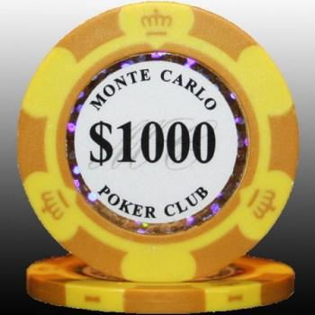 25 2tone monte carlo poker club 1000 poker chips