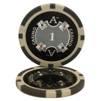 25 ACE $1 POKER CHIPS