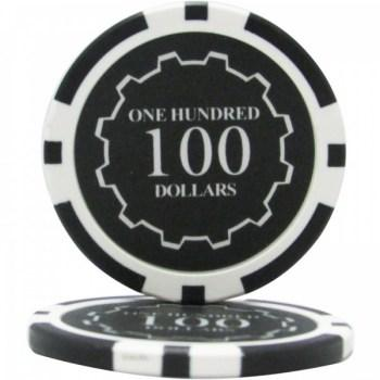 25 Eclipse $100 POKER CHIPS