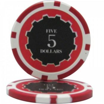 25 Eclipse $5 POKER CHIPS
