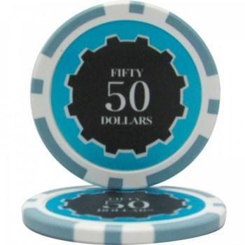 25 Eclipse $50 POKER CHIPS