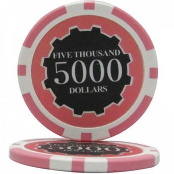 25 Eclipse $5000 POKER CHIPS