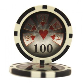 25 HIGH ROLLER $100 POKER CHIPS