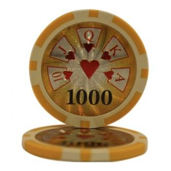 25 HIGH ROLLER $1000 POKER CHIPS