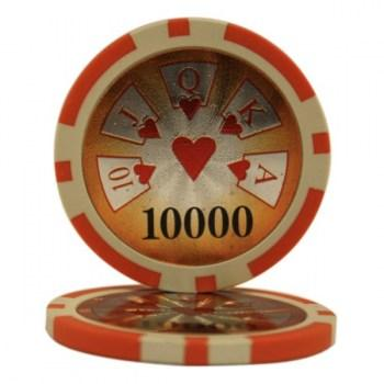 25 HIGH ROLLER $10000 POKER CHIPS