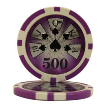 25 HIGH ROLLER $500 POKER CHIPS