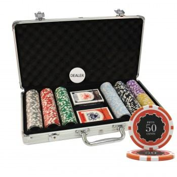 300PCS 14G ECLIPSE POKER CHIPS SET With ALUM CASE