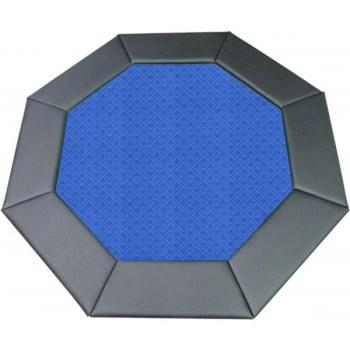 48 Octagon Poker Table Top Blue-1