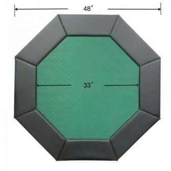 48 Octagon Poker Table Top Green-2