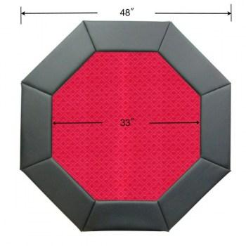 48 Octagon Poker Table Top Red-2