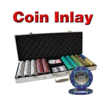 500PCS 12G MONTE CARLO COIN INLAY POKER CHIPS SET With ALUM CASE