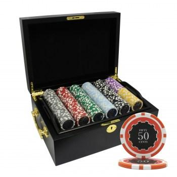 500PCS 14G ECLIPSE POKER CHIPS SET With MAHOGANY CASE