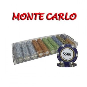 500PCS 14G MONTE CARLO POKER CLUB POKER CHIPS SET With ACRYLIC CASE