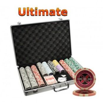 650PCS 14G LASER GRAPHIC ULTIMATE POKER CHIPS SET With ALUM CASE