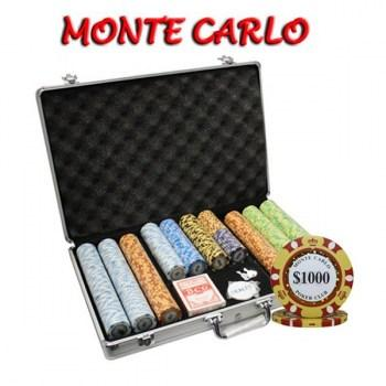 650PCS 14G MONTE CARLO POKER CLUB POKER CHIPS SET With ALUM CASE