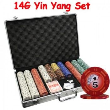 650PCS 14G YIN YANG DESIGN POKER CHIPS SET With ALUM CASE