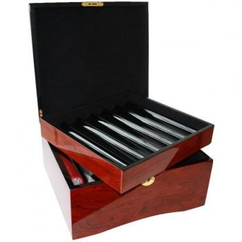 750ct Mahogany Wood Poker Chips Case-3