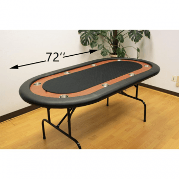 8 Player Folding Legs Poker Table_Size72_black