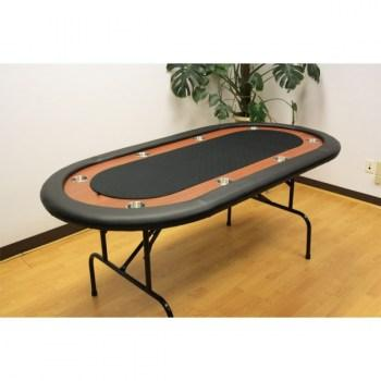 8 Player Folding Legs Poker Table__black-2