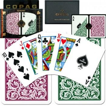 Copag 1546 Poker Size GreenBurgundy Regular Index_1