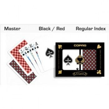 Copag Master Design Poker Size RedBlack Regular Index_3