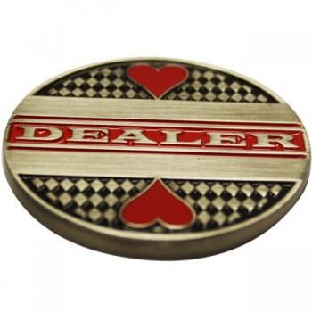 Deluxe Metal Dealer Button Texas Holdem Poker-1