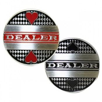 Deluxe Metal Dealer Button Texas Holdem Poker-2