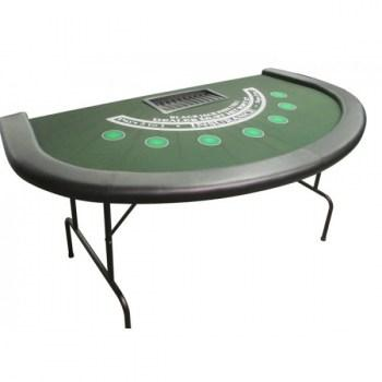 Full Size BlackJack Table with dye sublimated casino felt_1
