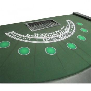 Full Size BlackJack Table with dye sublimated casino felt_2