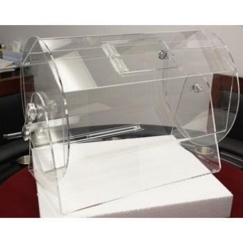Large Size Clear Acrylic Raffle Drum holds up to 10,000 Tickets_1