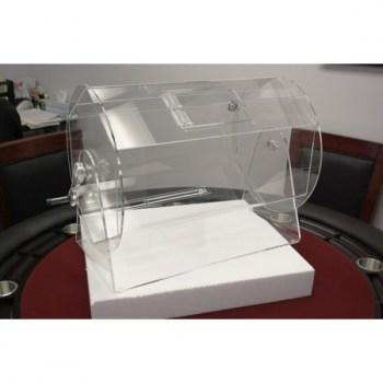 Large Size Clear Acrylic Raffle Drum holds up to 10,000 Tickets_2