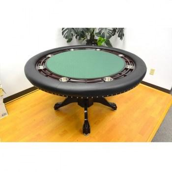 MYSTIC POKER TABLE DARK BROWN_Green_1