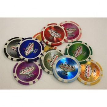 POKER CHIPS SAMPLE SET 10PCS LAS VEGAS CHIPS-1