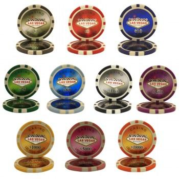 POKER CHIPS SAMPLE SET 10PCS LAS VEGAS CHIPS-2