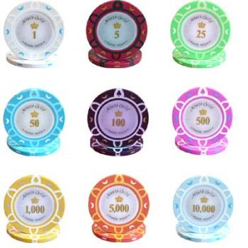 POKER CHIPS SAMPLE SET 9PCS MONTE CARLO POKER ROOM CHIPS-2
