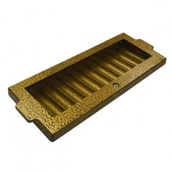 Professional Aluminum Poker Chip Tray and Locking Cover (12 Row 720 Chip) Hammered Gold_2