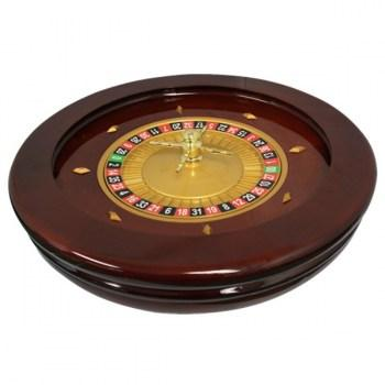 Roulette Wheel 20 inch Mahogany High Glossy
