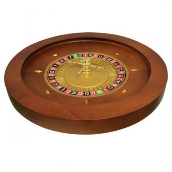 Roulette Wheel 20 inch Mahogany